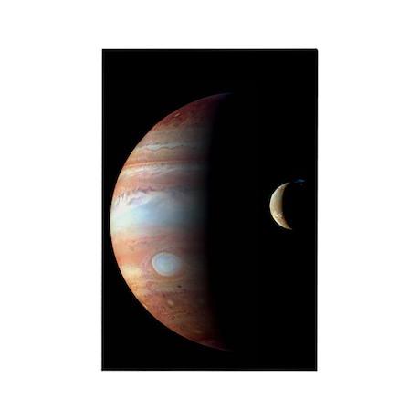 Jupiter & IO Rectangle Magnet