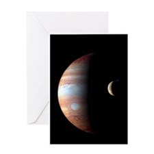 Jupiter & IO Greeting Card