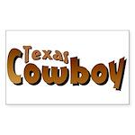 Texas Cowboy Rectangle Sticker