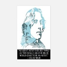 Oscar Wilde - Artist - Rectangle Decal