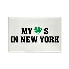 My Shamrock's in New York Rectangle Magnet (10 pac