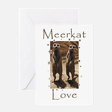 Meerkat Love Greeting Card