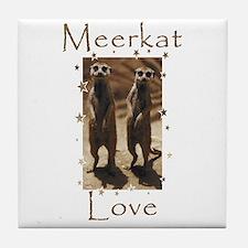 Meerkat Love Tile Coaster