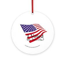 I Voted Ornament (Round)