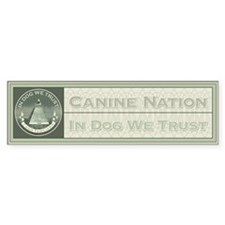 In Dog We Trust (Seal) Bumper Bumper Sticker