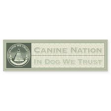 In Dog We Trust (Seal) Bumper Stickers