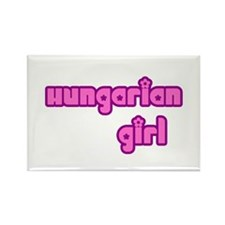Hungarian Girl Cute Rectangle Magnet