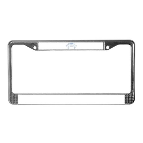 Summer License Plate Frame
