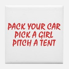 Tent quote Tile Coaster