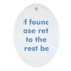 beach quote Oval Ornament