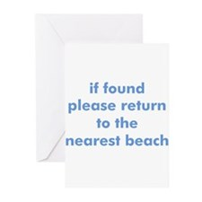 beach quote Greeting Cards (Pk of 10)