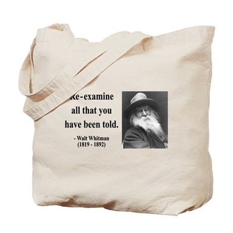 Walter Whitman 11 Tote Bag