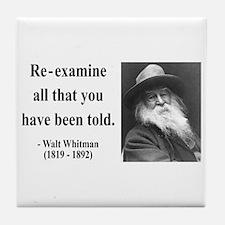 Walter Whitman 11 Tile Coaster