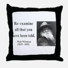 Walter Whitman 11 Throw Pillow