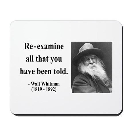 Walter Whitman 11 Mousepad