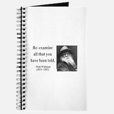 Walter Whitman 11 Journal