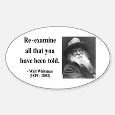 Walter Whitman 11 Oval Decal