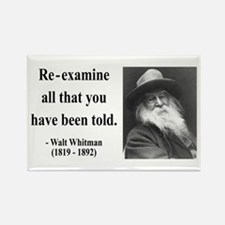 Walter Whitman 11 Rectangle Magnet