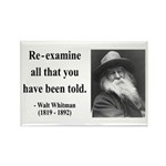 Walter Whitman 11 Rectangle Magnet (100 pack)