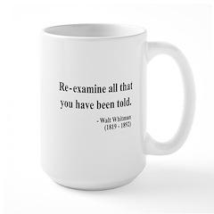 Walter Whitman 11 Large Mug