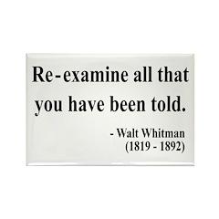 Walter Whitman 11 Rectangle Magnet (100 pack)