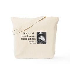 Walter Whitman 12 Tote Bag