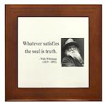 Walter Whitman 13 Framed Tile