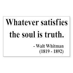 Walter Whitman 13 Rectangle Decal