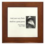 Walter Whitman 14 Framed Tile