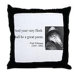 Walter Whitman 14 Throw Pillow