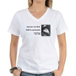 Walter Whitman 14 Women's V-Neck T-Shirt