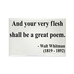 Walter Whitman 14 Rectangle Magnet (100 pack)