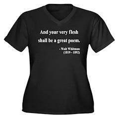 Walter Whitman 14 Women's Plus Size V-Neck Dark T-