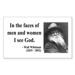 Walter Whitman 16 Rectangle Decal