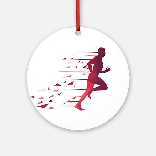 Running man Round Ornament