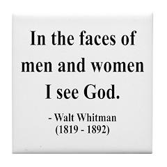 Walter Whitman 16 Tile Coaster