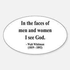 Walter Whitman 16 Oval Decal