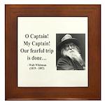 Walter Whitman 17 Framed Tile