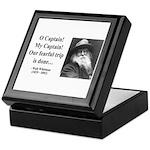 Walter Whitman 17 Keepsake Box