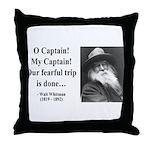 Walter Whitman 17 Throw Pillow