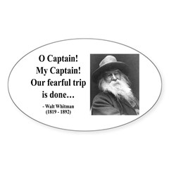 Walter Whitman 17 Oval Decal