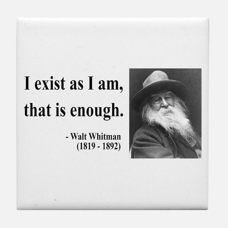 Walter Whitman 18 Tile Coaster
