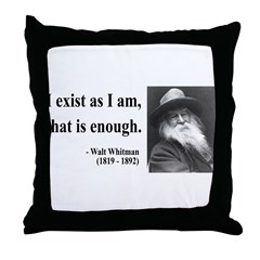 Walter Whitman 18 Throw Pillow