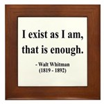 Walter Whitman 18 Framed Tile