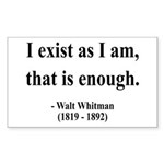Walter Whitman 18 Rectangle Sticker