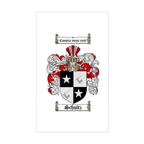 Schultz Coat of Arms Rectangle Sticker