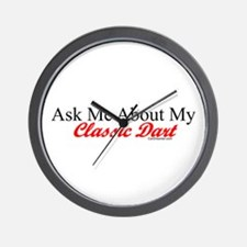 """""""Ask About My Dart"""" Wall Clock"""