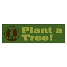 PLANT-TREES Bumper Car Sticker