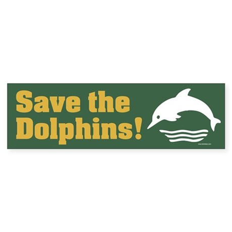 SAVE-THE-DOLPHINS Bumper Sticker