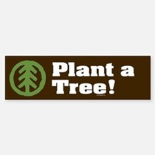 PLANT-A-TREE Bumper Car Car Sticker